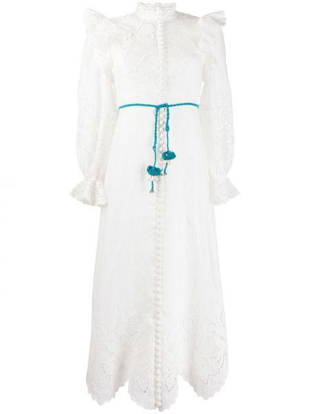 Платье миди с вышивкой на пуговицах Zimmermann