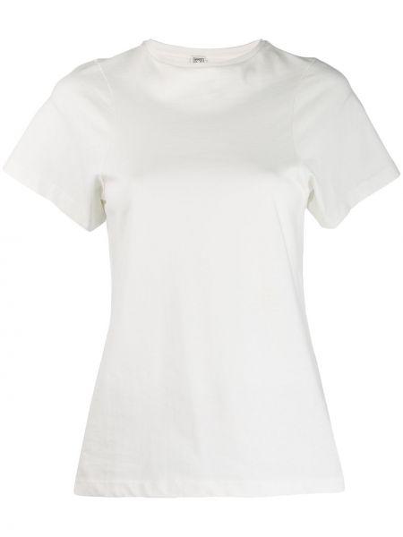Koszula z krótkim rękawem biała prosto Toteme