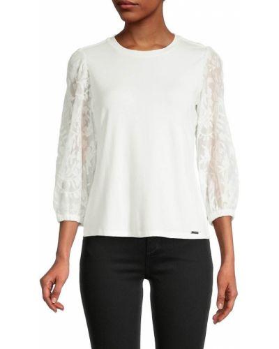 Biała bluzka z wiskozy T Tahari
