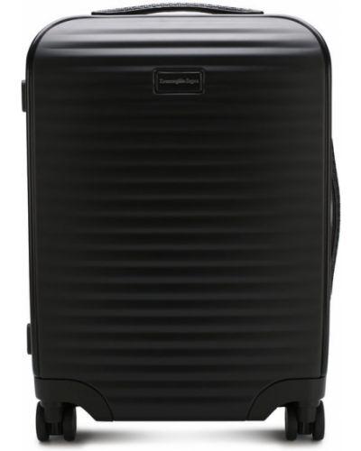 Черный чемодан на колесиках Ermenegildo Zegna