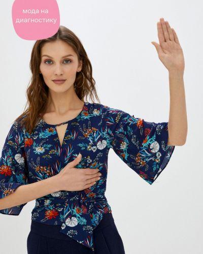Синяя блузка с короткими рукавами Koton