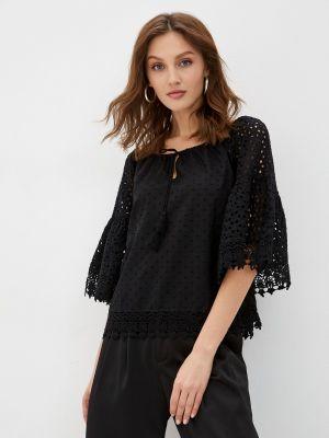 Хлопковая блузка - черная Fresh Cotton