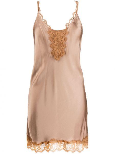 Sukienka mini koronkowa z wiskozy bez rękawów So Allure