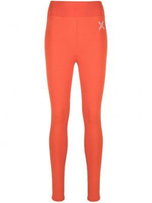 Pomarańczowe legginsy z wysokim stanem z printem Kenzo