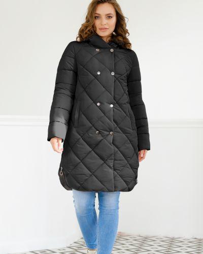 Пальто с капюшоном - черное Nui Very