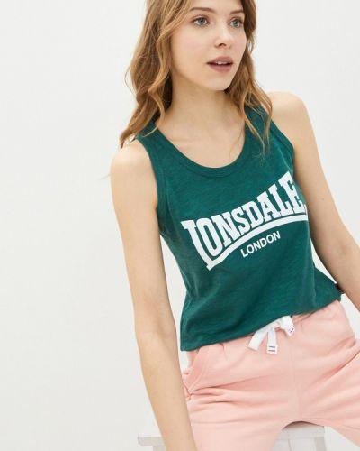 Зеленый топ Lonsdale