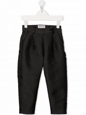 Czarne spodnie z wiskozy Simonetta