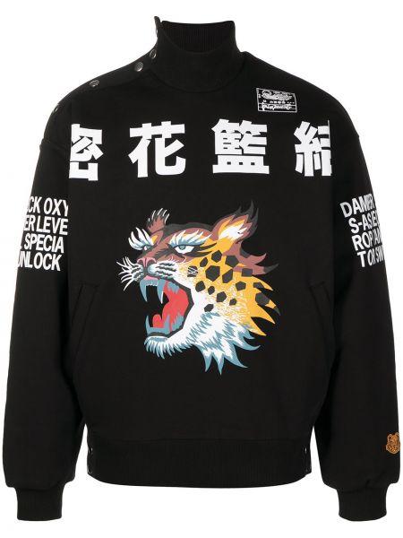 Bawełna bawełna bluza z długimi rękawami ze stójką Kenzo