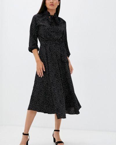 Черное прямое платье Imocean