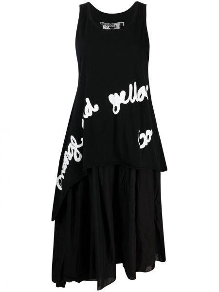 Черное платье без рукавов с вырезом Rundholz