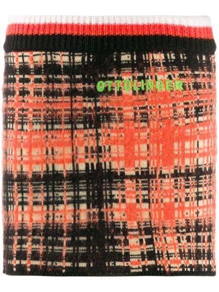 Плиссированная юбка мини с поясом Ottolinger