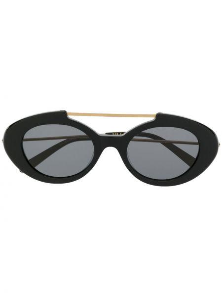 Прямые черные солнцезащитные очки металлические Han Kjøbenhavn