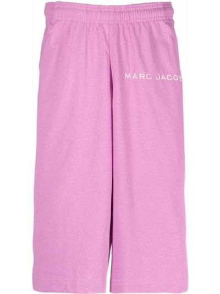 Розовые хлопковые шорты Marc Jacobs