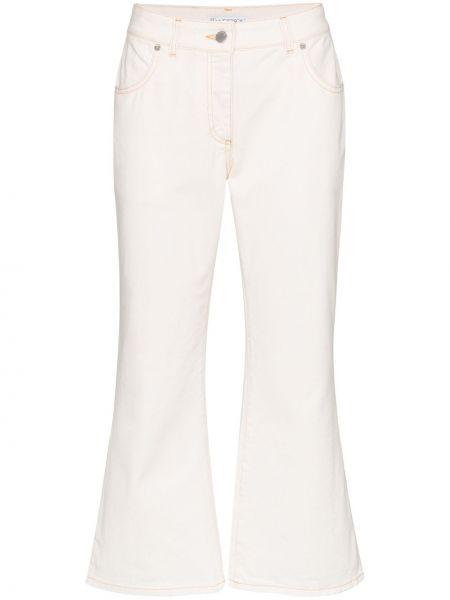 Расклешенные укороченные джинсы в стиле бохо Jw Anderson