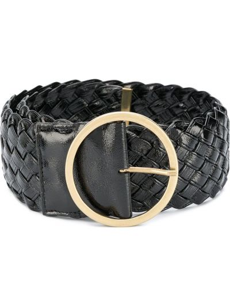 Золотистый черный плетеный ремень с пряжкой из искусственной кожи Philosophy Di Lorenzo Serafini