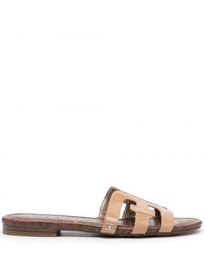 Brązowe sandały na niskim obcasie Sam Edelman