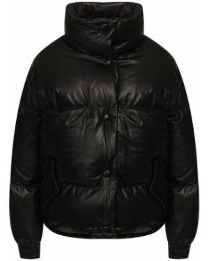 Кожаная куртка черная нейлоновая Golden Goose Deluxe Brand