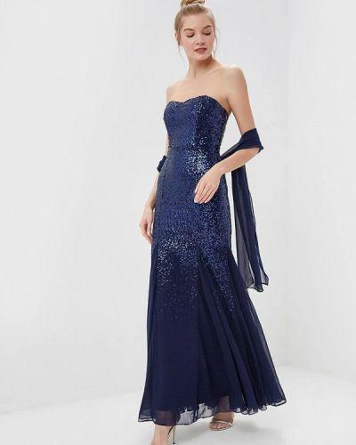 Вечернее платье синее Goddiva