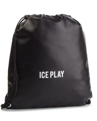 Skórzany plecak czarny sztuczna skóra Ice Play