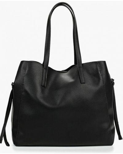 Сумка шоппер кожаный черная Mango