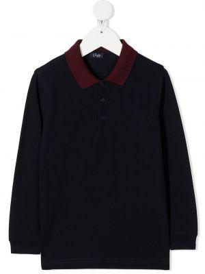 Черная классическая рубашка с длинными рукавами с воротником Il Gufo