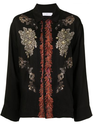 Черная рубашка классическая Toga Pulla