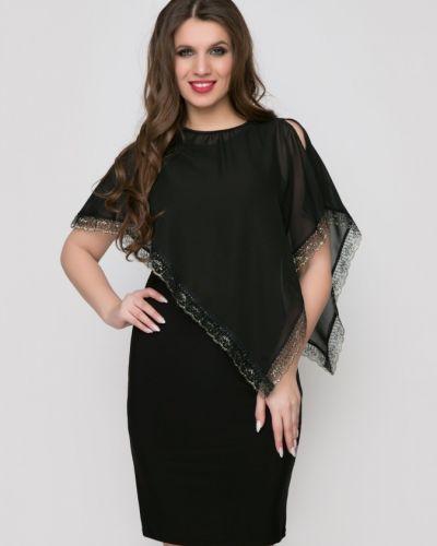 Вечернее кружевное с рукавами платье-футляр Belluche