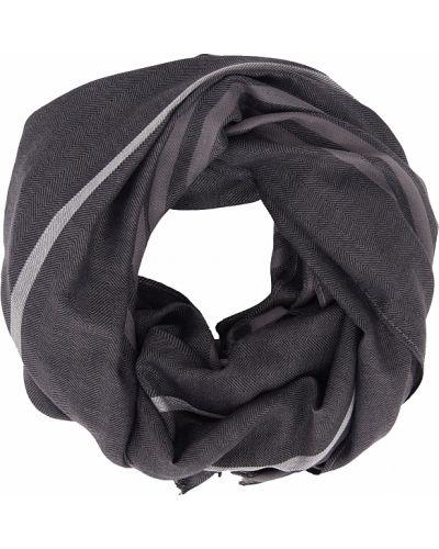 Хлопковый серый шарф Finn Flare