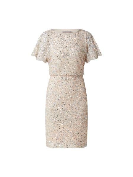Beżowa sukienka z szyfonu Christian Berg Cocktail