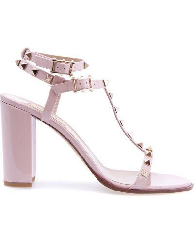 Босоножки на каблуке с шипами Valentino