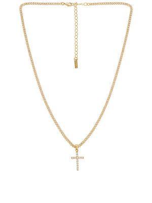 Plaża krzyż złoto metal z cyrkoniami Natalie B Jewelry