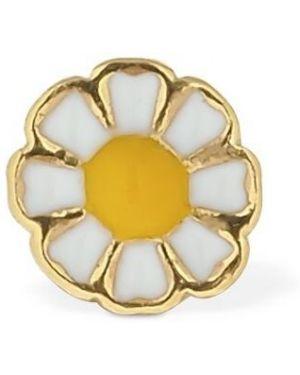 Złote srebrne kolczyki Wilhelmina Garcia X Blanca Mirò