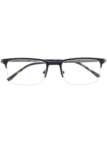Черные очки для зрения квадратные металлические Lacoste