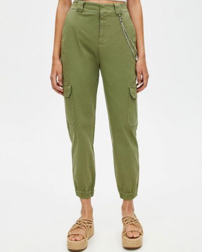 Брюки карго зеленый Pull&bear