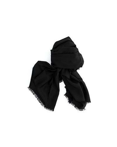 Черный шерстяной платок Valentino
