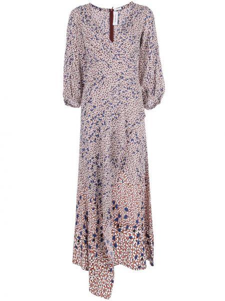 Приталенное платье макси с запахом с V-образным вырезом с драпировкой Yigal Azrouel