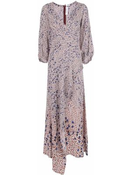 Платье макси на запах - красное Yigal AzrouËl