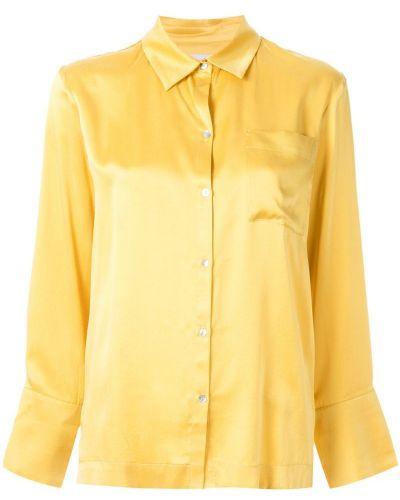 Блузка с длинным рукавом классическая желтый Asceno