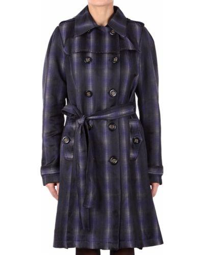 Фиолетовое пальто с капюшоном Gf Ferre