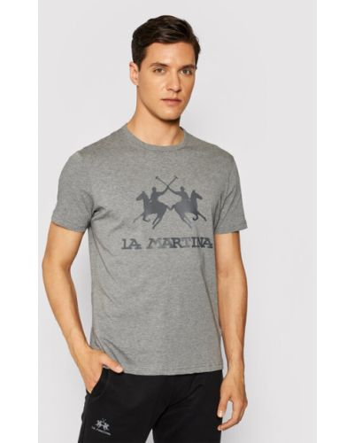 Szara t-shirt La Martina