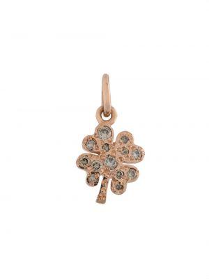Розовая подвеска с бриллиантом с подвесками Dodo
