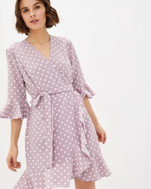 Однобортное розовое платье 7arrows