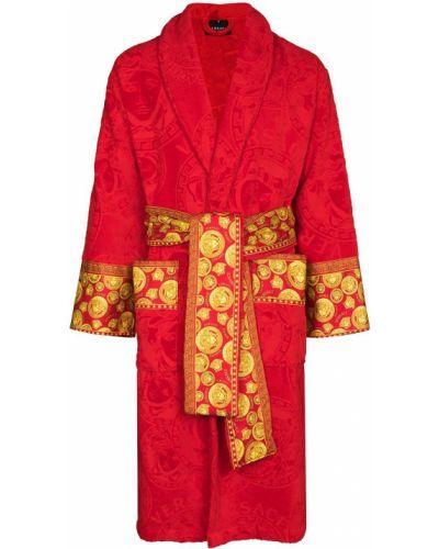 Długi szlafrok bawełniany Versace