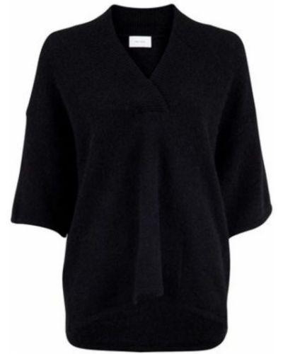 Czarna bluzka oversize krótki rękaw Neo Noir