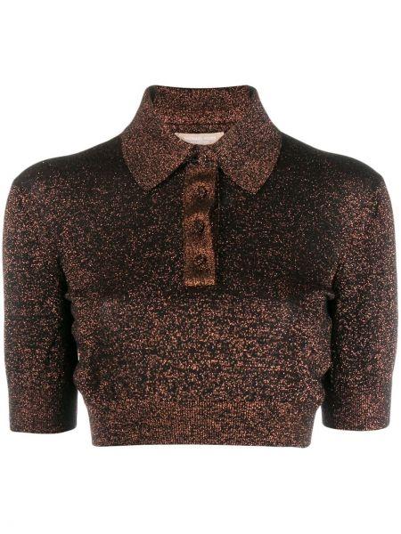 Классическая рубашка без воротника с коротким рукавом Michael Kors Collection