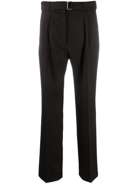 Прямые шерстяные черные со стрелками брюки Christian Wijnants
