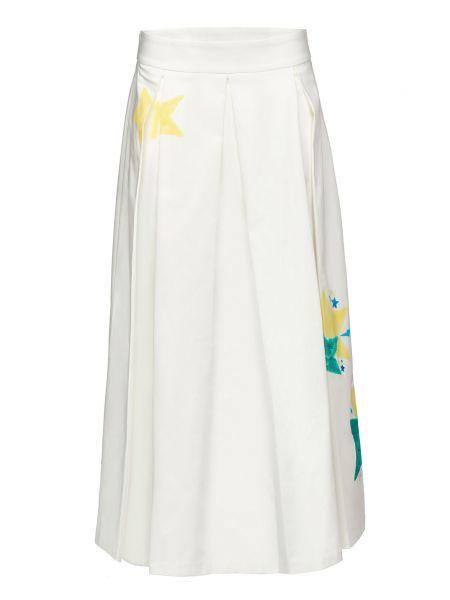 Хлопковая белая юбка на молнии Alessandro Dell'acqua