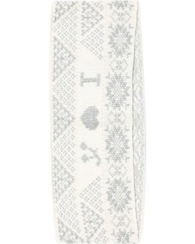 Bawełna ciepły wełniany biały szalik Bonpoint