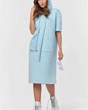 Прямое платье с капюшоном с вырезом с завязками Fly