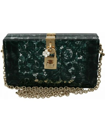 Zielona kopertówka Dolce And Gabbana
